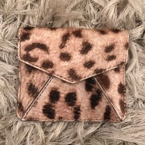 Alice + Olivia calfskin leopard card holder